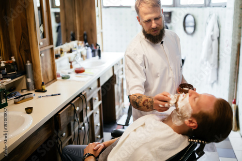 Male in barber shop