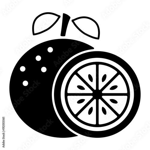 Obst und Früchte (Icon) - Orange
