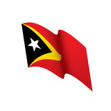 east timor flag, vector illustration - 192003674