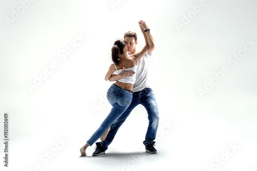 Fototapeta couple dancing social danse