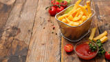 french fries and ketchup - 192008810