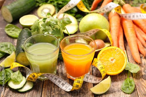 Fotobehang Sap fresh detox drink