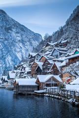 Hallstatt in winter, Salzkammergut, Austria