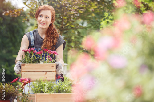Sticker Crates with pink flowers