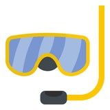 Scuba mask icon. Flat illustration of scuba mask vector icon for web - 192014664