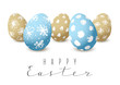 Easter card with color decorated eggs - 192017817