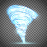 Glowing tornado with...