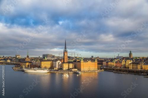 Foto op Canvas Stockholm Stockholm skyline at sunrise, Sweden