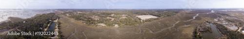 Foto op Plexiglas Panoramafoto s Aerial panorama of the coast of South Carolina.