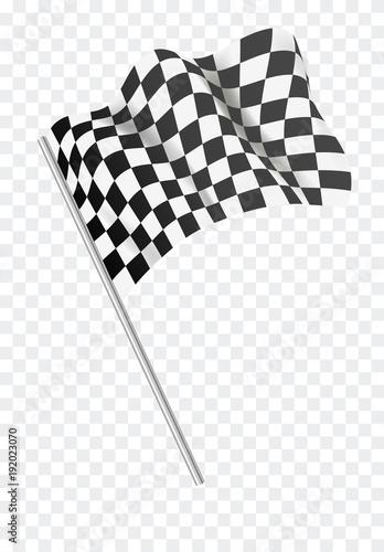 Plexiglas F1 Chequered flag flying. Vector illustration.