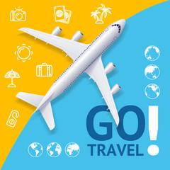 Go Travel Concept. Vector