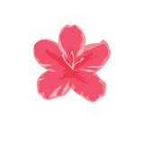 Azalea icon in flat style