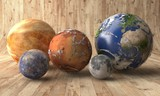 Planets on a wooden table - 192027670