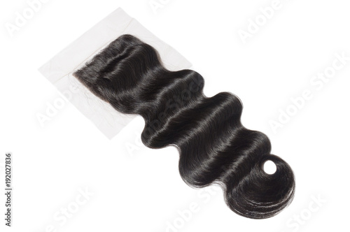 free part body wave black human hair weave extensions lace closure