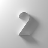 2, two, white paper number - 192030658