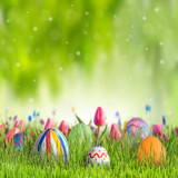 Happy easter background - 192035252
