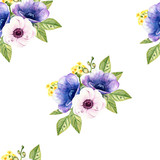 watercolor seamless pattern on the white background - 192042477