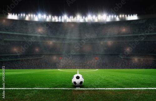 Fotobehang Bol ball im stadion