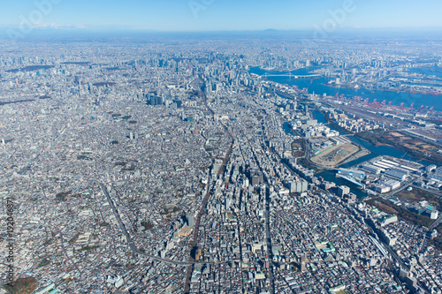 Foto op Plexiglas Tokio 東京・空撮