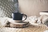 Morning of weekend with cup of coffee - 192047068
