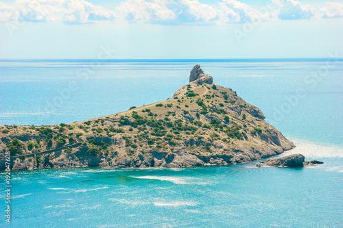 Foto op Plexiglas Pool Beautiful summer sea landscape at the resort in the Crimea