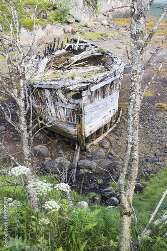 Keuken foto achterwand Schipbreuk Epave de bateaux aux Lofoten