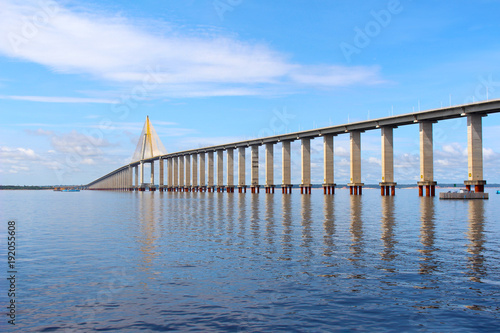 Fotobehang Rio de Janeiro Rio Negro Bridge , Manaus, Amazonas Brazil