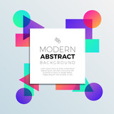 Abstract Colorful Shapes Banner Background - 192056061