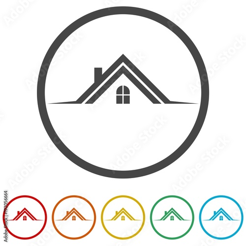 Gamesageddon Home Roof Icon Real Estate Symbol 6 Colors Included