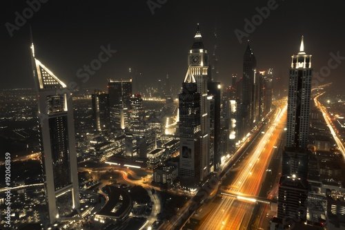 Timelapse Cityscape Photography during Night Time  dubai