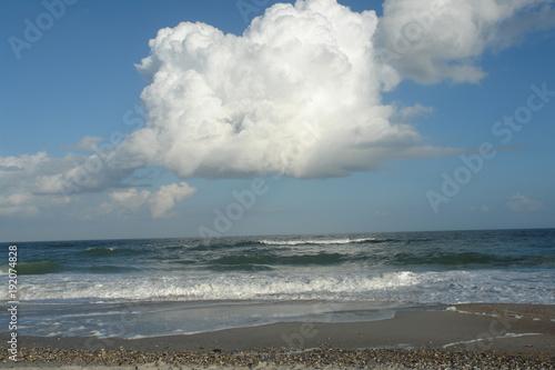 Aluminium Zen Stenen nuage dans le ciel bleu, St-Augustine, USA
