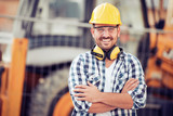 Young construction worker in hard hat - 192077668