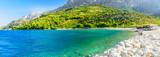 Beautiful empty beach in Makarska, Croatia - 192079481