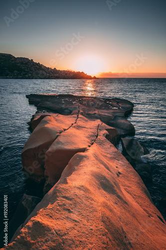 Foto op Canvas Zee zonsondergang Lead