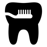 Cleaning tooth icon, simple style - 192085644