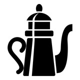 Tall teapot icon, simple style - 192086277