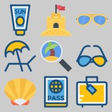 icons set about Beach And Camping . [keywordRandom:3] - 192094830