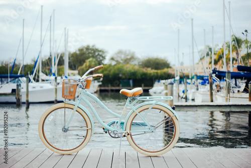 Fotobehang Fiets Bicycle on a dock