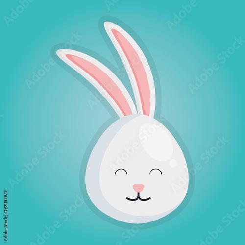 cute rabbit head icon vector illustration design