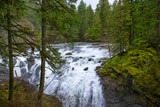 View of the Englishman River Falls in Vancouver Island, BC Canada - 192109867