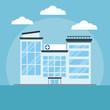 Hospital building cartoon icon vector illustration graphic design Health and healthcare