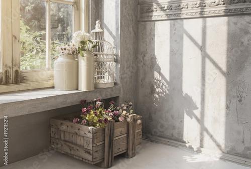 Foto Murales interior indoor garden victorian vintage style