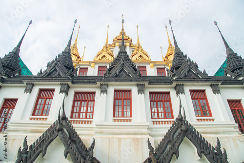 In de dag Bangkok Loha Prasat or the royal castle in Wat Ratchanatda located in Bangkok the capital cities of Thailand.