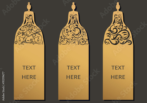 Laser cut with wedding set of ornate cards template for greeting laser cut with wedding set of ornate cards template for greeting card motivation tag m4hsunfo