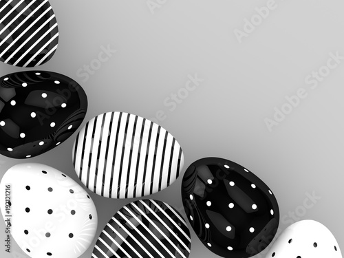 3d-rendering-of-easter-eggs-with-empty-space