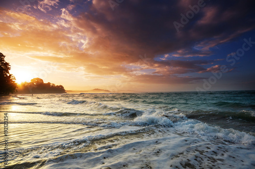 Fotobehang Galyna A. Sea sunset