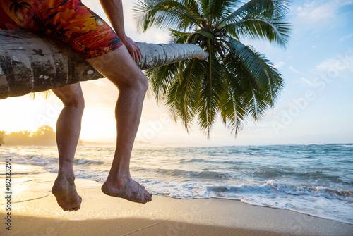 Fotobehang Galyna A. Tropical beach