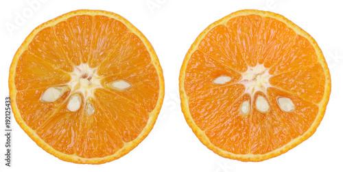 Mandarynka klementynka pomarańcz przekrojona makro