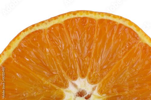 Mandarynka klementynka pomarańcz przekrojona macro