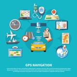 GPS Navigation System Background - 192126287